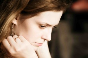 a depressed woman who needs counselling