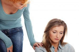 woman offering comfort