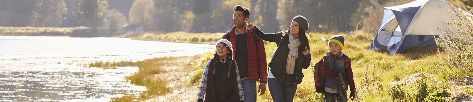 bigstock Family on a camping trip walki 134867066png